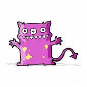 cartoon little monster
