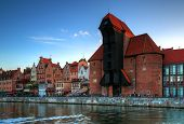 Crane in the old town in Gdansk
