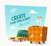 Create your own journey. Vector illustration.