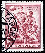 Battle At Zborov Stamp
