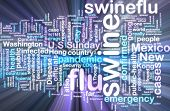 Swine Flu Wordcloud Glowing