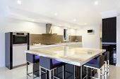 Modern Led Lit Kitchen