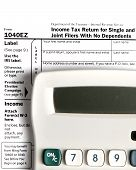 Tax Form EZ With Calculator  Vertical