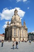 View of Frauenkirche in Dresden, Germany