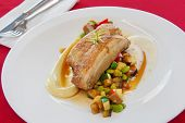 pic of pork belly  - Japanese style pork belly with steamed vegetables