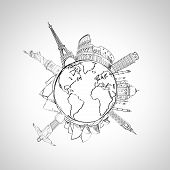 Earth And Landmark