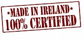 Made In Ireland One Hundred Percent Certified