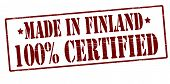 Made In Finland One Hundred Percent Certified