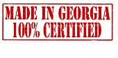Made In Georgia One Hundred Percent Certified