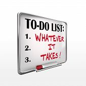 Whatever It Takes On To-do List Whiteboard