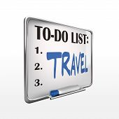 The Word Travel On To-do List Whiteboard