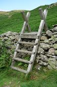 Ladder Stile over Dry Stone Wall