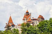 Medieval Castle Of Bran Also Known For The Myth Of Dracula.