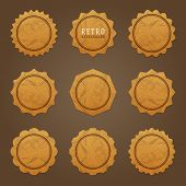 Vintage labels design. Retro style borders and frames, labels, tags, badges and stamps design. Old c