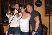 LOS ANGELES - AUG 1:  Kelly Sullivan, Nancy Lee Grahn, William deVry at the William deVry Fan Club E
