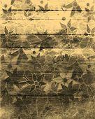 Art Flower Pattern Vintage Wood