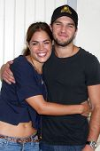 LOS ANGELES - AUG 2:  Kelly Thiebaud, Bryan Craig at the