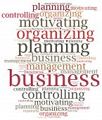 Business Management Functions. Word Cloud Illustration.