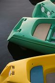 Stock Photo Of Three Paddle Boats