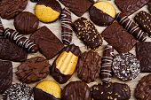 Assorted Selection Of Chocolate Biscuits