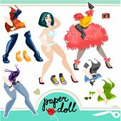 girl paper doll set