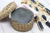 homemade blue corn tortilla, mexican traditional food