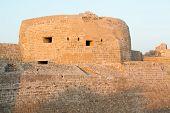 foto of bahrain  - Dusk at the recontructed Bahrain Fort near Manama at Seef Bahrain - JPG