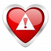 exclamation sign valentine icon warning sign alert symbol