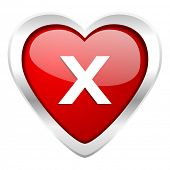 cancel valentine icon