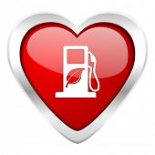 biofuel valentine icon bio fuel sign