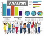 Analysis analyzing information bar graph data concept