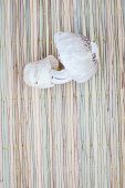 pic of edible mushroom  - Edible mushrooms on traditional mat for cook with copyspace - JPG