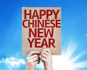 Happy Chinese New Year card with a beautiful day