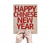 Happy Chinese New Year card isolated on white background