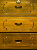 Detail Of Old Wooden Drawer