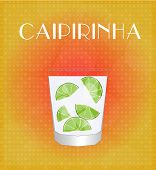 Drinks List Caipirinha With Red & Golden Background
