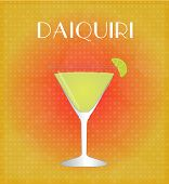 Drinks List Daiquiri With Red & Golden Background