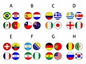 Brazil Cup Groups Footballs With Coat Of Arms