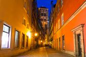 GDANSK, POLAND - DECEMBER 17, 2014: St. Mary Cathedral in the old town of Gdansk, Poland. Baroque architecture of the old town is one of the most notable tourist attractions of the city.
