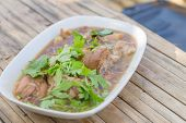 Stewed Pork Leg , Thai Food