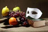 Mask And Fruits
