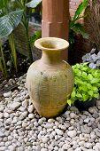 Clay Jar In The Garden