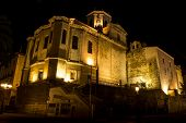 Night Photo Of Santander Cathedral (spain)