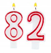 Birthday Candles Number Eighty Two