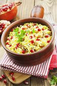 Couscous With Pomegranate, Raisins And Spices