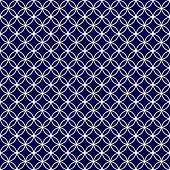 Navy And White Interlocking Circles Tiles Pattern Repeat Background