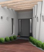 modern entrance with frontdoor