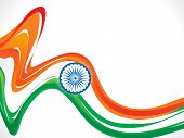 Abstract Indian Flag Wave Background