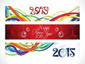 Abstract New Year Banners Set
