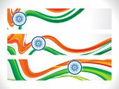 Abstract Indian Flag Banner